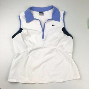 NIKE Women's White Dri Fit Sleeveless Sport Top